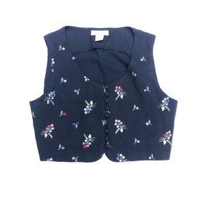 Vintage floral vest. Express size medium